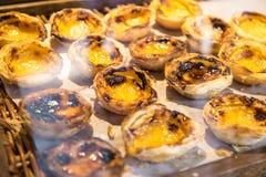 Pastein de nata Dessert portoghese immagini stock