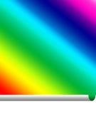 Pasteing ein Regenbogen Stockfotos
