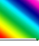 Pasteing a rainbow. Of colour with a curl Stock Photos