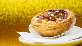 Pasteis de Βηθλεέμ, Nata, πορτογαλικό κέικ Στοκ Φωτογραφίες