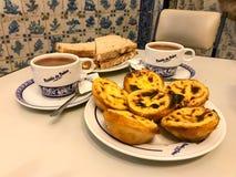 Pasteis de贝拉母-里斯本,葡萄牙 库存照片
