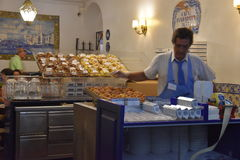 Pasteis de Belem en Lisboa, Portugal Fotografía de archivo libre de regalías