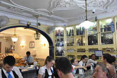 Pasteis de Belem i Lissabon, Portugal Arkivfoton