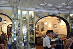 Pasteis de Belem i Lissabon, Portugal Royaltyfri Fotografi