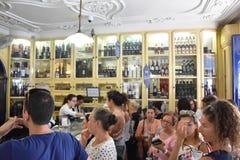 Pasteis de Belem i Lissabon, Portugal Fotografering för Bildbyråer