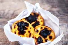 Free Pasteis De Nata - Creamy Egg Tart With  Sweet Curstard, Black Cr Royalty Free Stock Photography - 104226467