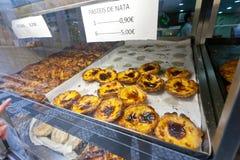 Pasteis de Nata i Lissabon Arkivbild