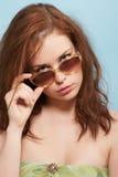Pasteitje met de zonnebril Royalty-vrije Stock Foto's