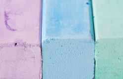 Pastel. Chalk in row as a background royalty free stock photos