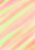 Pastel abstract drawn background with brushstrokes in yellow, pink, coral colors. Stock Image