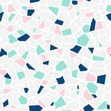 Pastel abstract mosaic seamless pattern. Vector background. Endless texture. Ceramic tile fragments. Mosaic tile seamless pattern. Vector pastel abstract royalty free illustration
