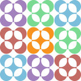 Pastel abstract round flowers Royalty Free Stock Image