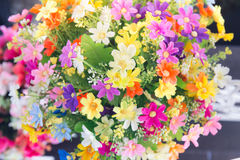 Pastel Artificial flowers for valentine Stock Photos