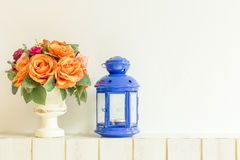 Pastel Artificial Pink Rose Wedding Bridal Bouquet in flower pot. Royalty Free Stock Images