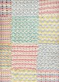 Pastel baby crochet blanket 2. A handcrafted blancket made by crochet-hook for a newborn Royalty Free Stock Photos