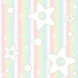 Pastel baby pattern Stock Image