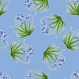 Pastel background with blue snowdrops. Vector Royalty Free Stock Photo