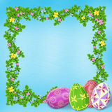 Pastel background with colored eggs Royalty Free Stock Photography