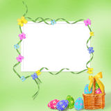 Pastel background with colored eggs Royalty Free Stock Image