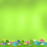 Pastel background with colored eggs Stock Photo