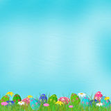 Pastel background with colored eggs Royalty Free Stock Photos