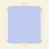 Pastel background with dots and hearts Stock Images