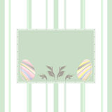 Pastel background with easter eggs. To wish a Happy Easter with this beautiful card Stock Image