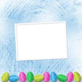 Pastel background with eggs to celebrate Easter Royalty Free Stock Photography