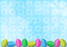 Pastel background with eggs to celebrate Easter Royalty Free Stock Photos