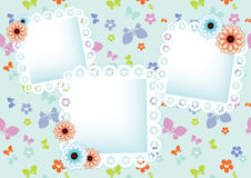 Pastel background with lace frames Royalty Free Stock Photos