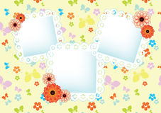 Pastel background with lace frames Royalty Free Stock Image