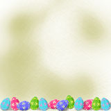 Pastel background with multicolored eggs Stock Photography