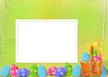 Pastel background with multicolored eggs Royalty Free Stock Photo