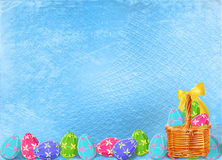 Pastel background with multicolored eggs Royalty Free Stock Photography