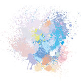 Pastel background of paint splashes. On white Royalty Free Stock Photos