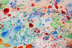 Colors, painting splashes pastel background, abstract colorful texture Royalty Free Stock Image