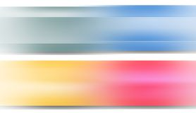 Pastel banners Royalty Free Stock Photography