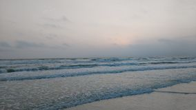 Pastel beach 3. Foggy sunset at Siesta key Beach royalty free stock image