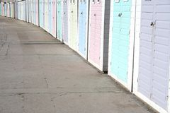 Pastel Beach Huts Royalty Free Stock Photo