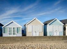 Pastel Beach Huts Stock Image