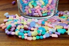 Pastel bead bracelets. Closeup of pastel bead bracelets Stock Photo