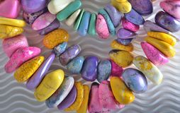 Pastel beads Royalty Free Stock Photos