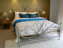 Pastel bedroom Stock Photo