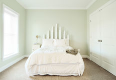 Pastel Bedroom Interior Stock Image