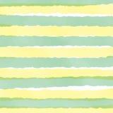 Pastel blanco amarillo verde claro de la raya en día de San Valentín Fotografía de archivo libre de regalías