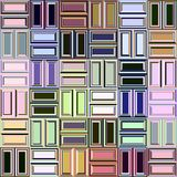 Pastel blocks pattern Royalty Free Stock Photos