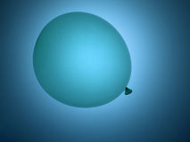 Pastel blue balloon on blue background Stock Image