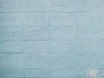 Pastel blue brick wall Royalty Free Stock Photo