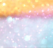 Pastel bokeh lights or multicored defocused lights Stock Photos