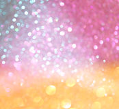 Pastel bokeh lights or multicored defocused lights Royalty Free Stock Photos